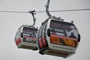Llegar al teleférico emirates con dlr al lado del Támesis