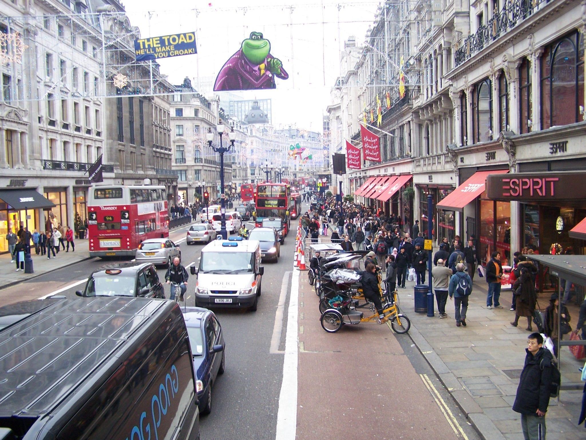 Regent Street en el Soho