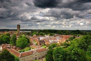 pueblo del castillo de Warwick