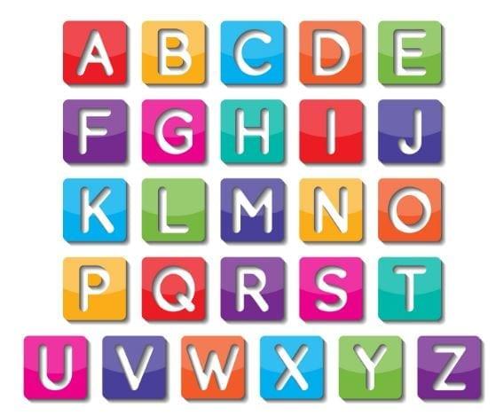 abecedario de colores en ingles