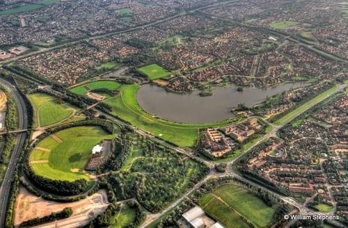 Milton Keynes ciudad en Reino Unido cerca de Londres