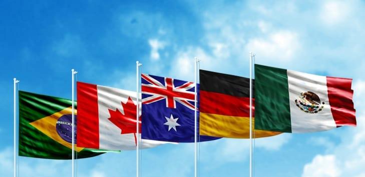 nacionalidades y países inglés