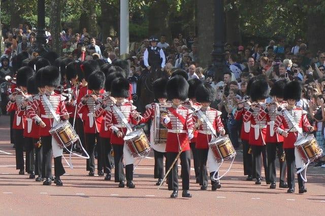 Horario del cambio de guardia, antes en Whitehall