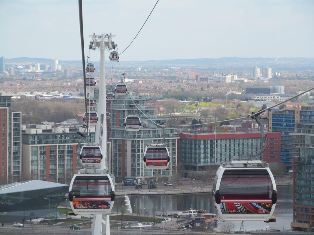 Teleférico Emirates en Londres, un sitio que ver y visitar