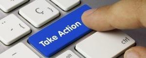 tomar acción