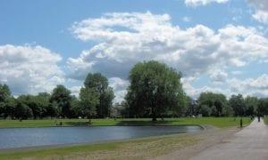 Lago en el clapham common