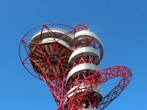 Parte superior de la Torre ArcelorMittal Orbit en el Olympic Park