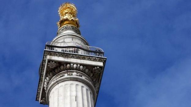 Vistas desde la altura del monumento del incendio