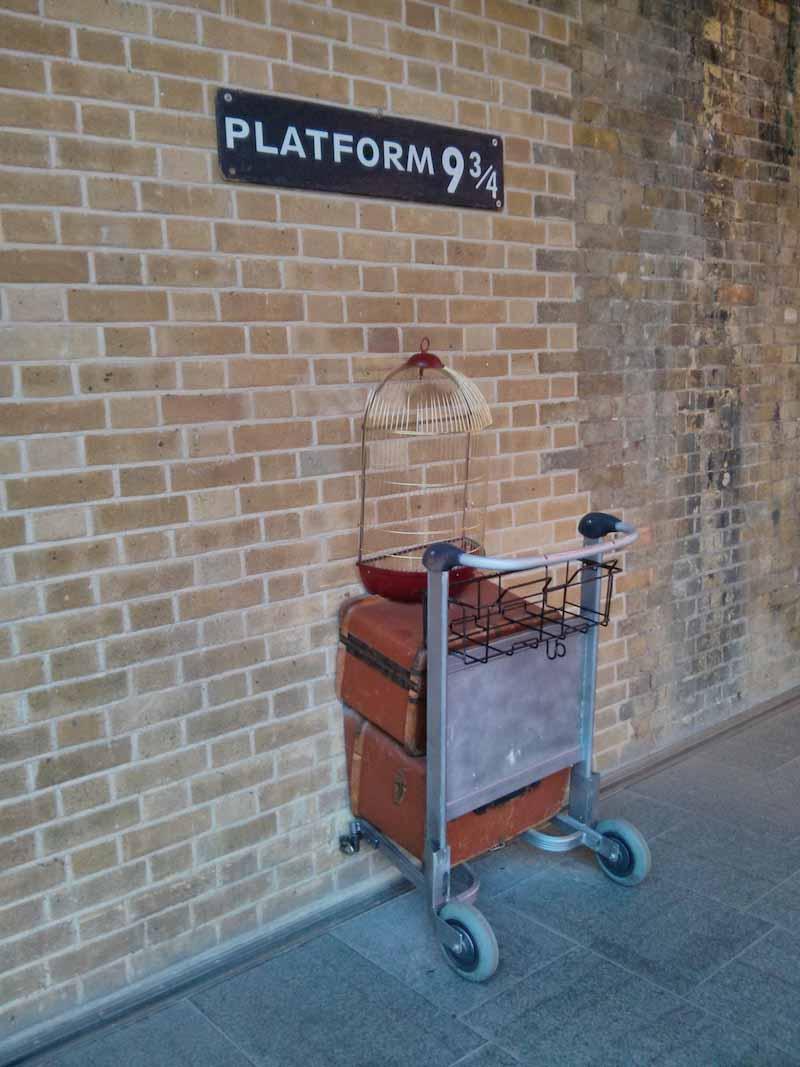 billetes Andén 9 y 3/4 Harry Potter