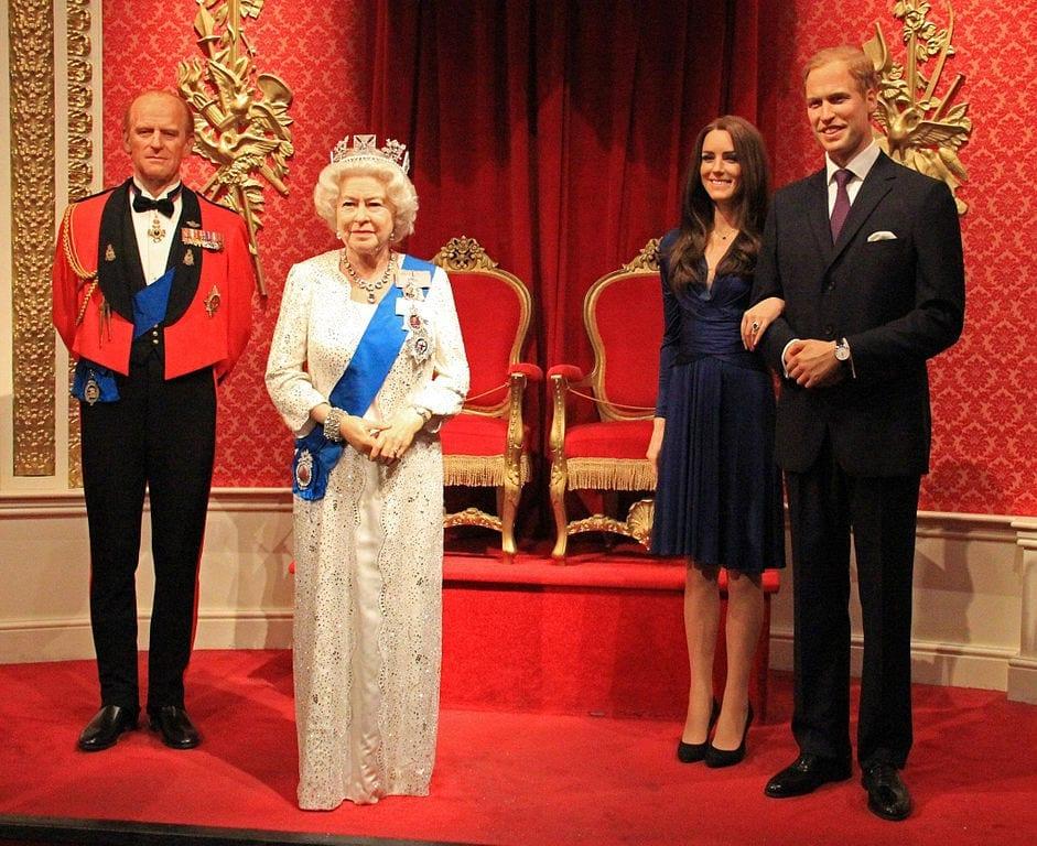 Familia Real en museo de cera.