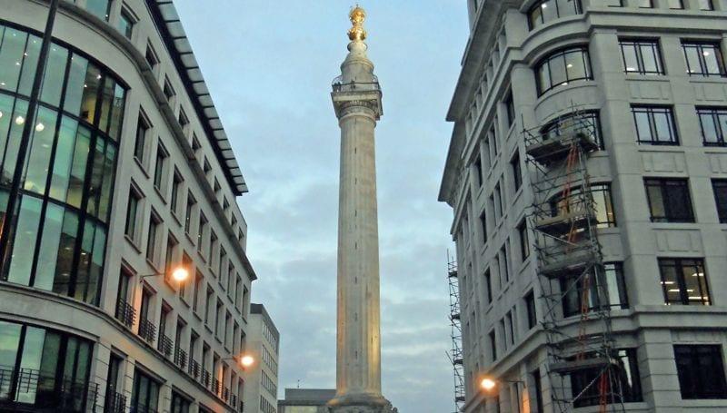 Torre Monumento al Gran Incendio de Londres de 1666