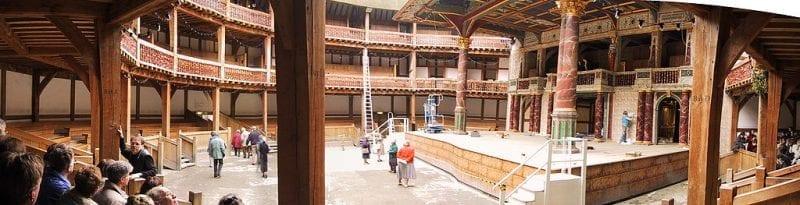 Precio e interior del Shakespeare Globe Theatre