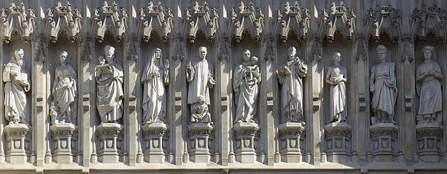 Tumba de isaac newton en la Westminster Abbey