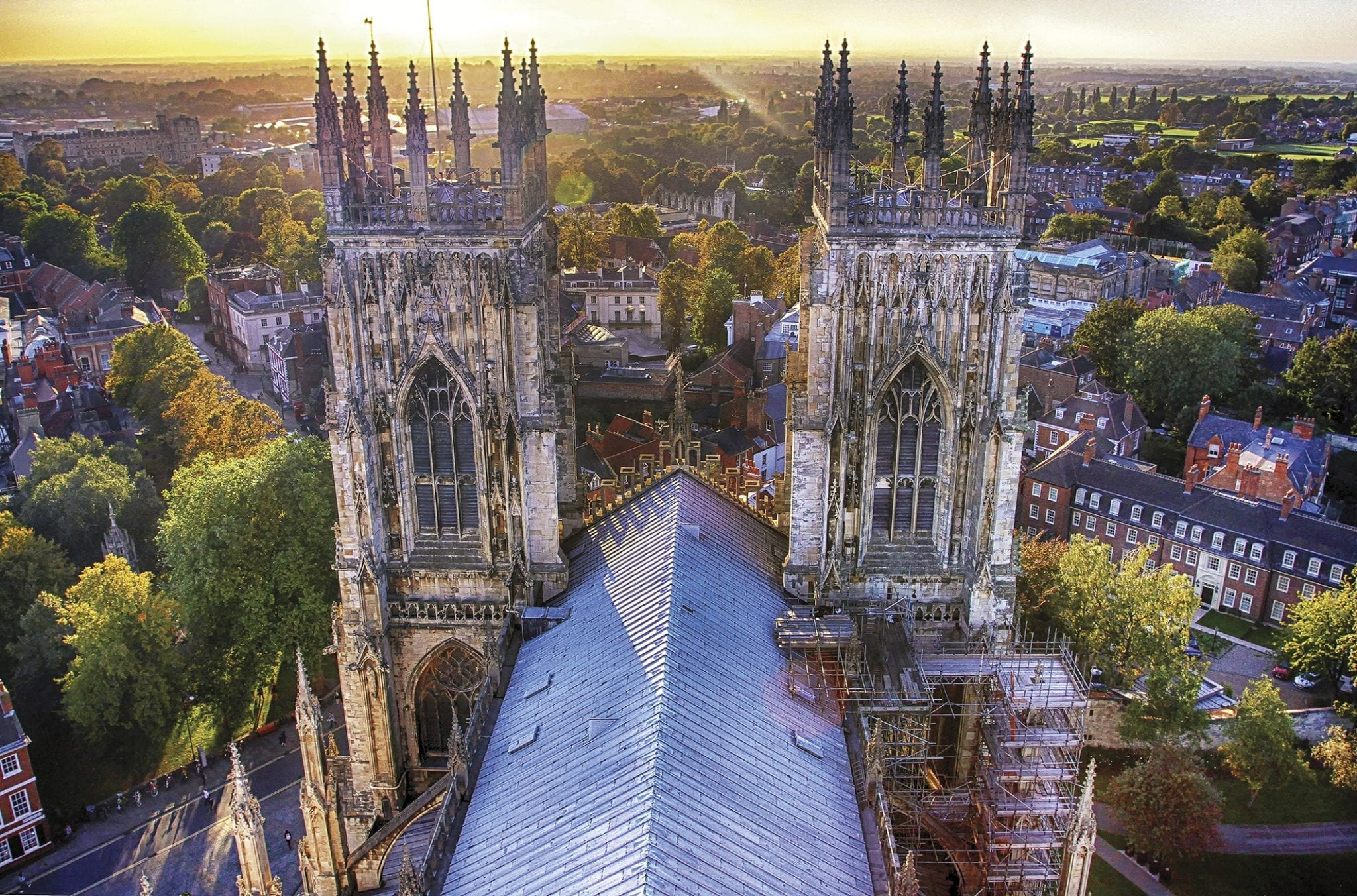 catedral gótica de la ciudad de york en Inglaterra (UK)