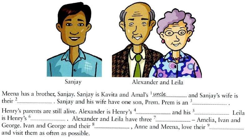 familia vocabulario ingles