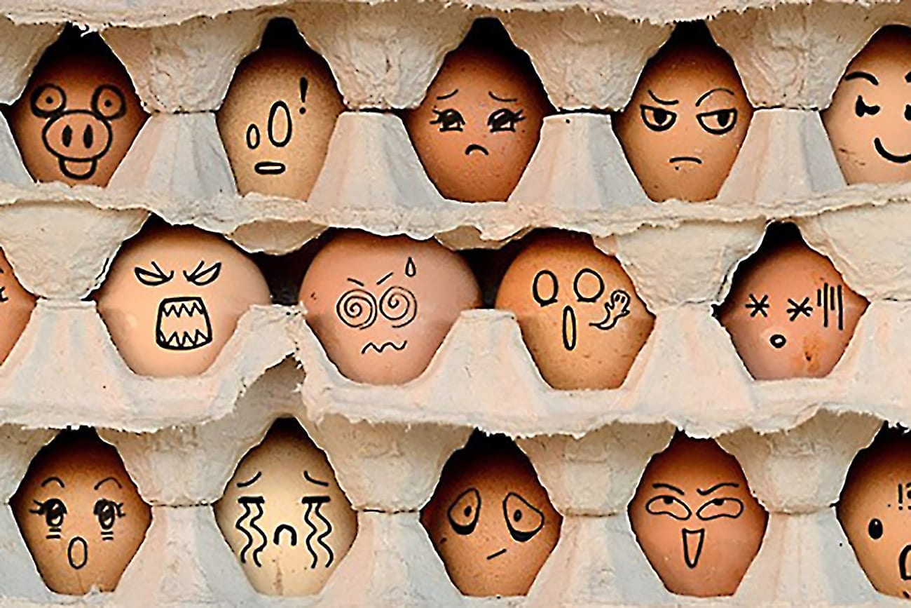 huevos expresando sentimientos y emociones en ingles