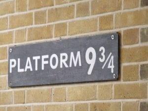 visitar el andén de Harry Potter