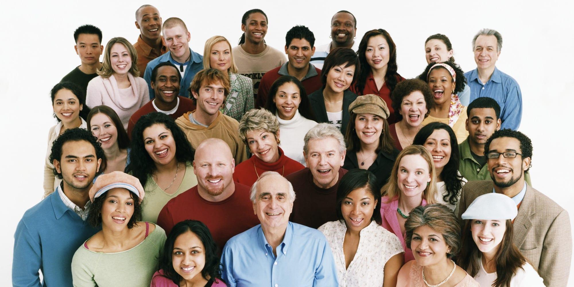 describir grupo de personas en ingles