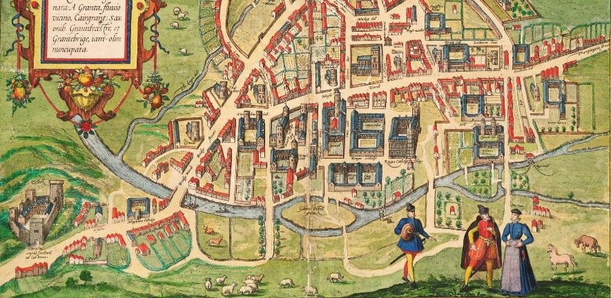 mapa antiguo de cambridge