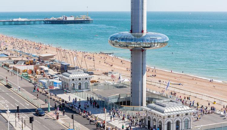 Vivir y Buscar Trabajo en Brighton: vista panorámica brighton busca alojamiento para aprender inglés
