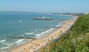 Playa de Bournemouth Reino Unido, UK y buscar trabajo en Inglaterra