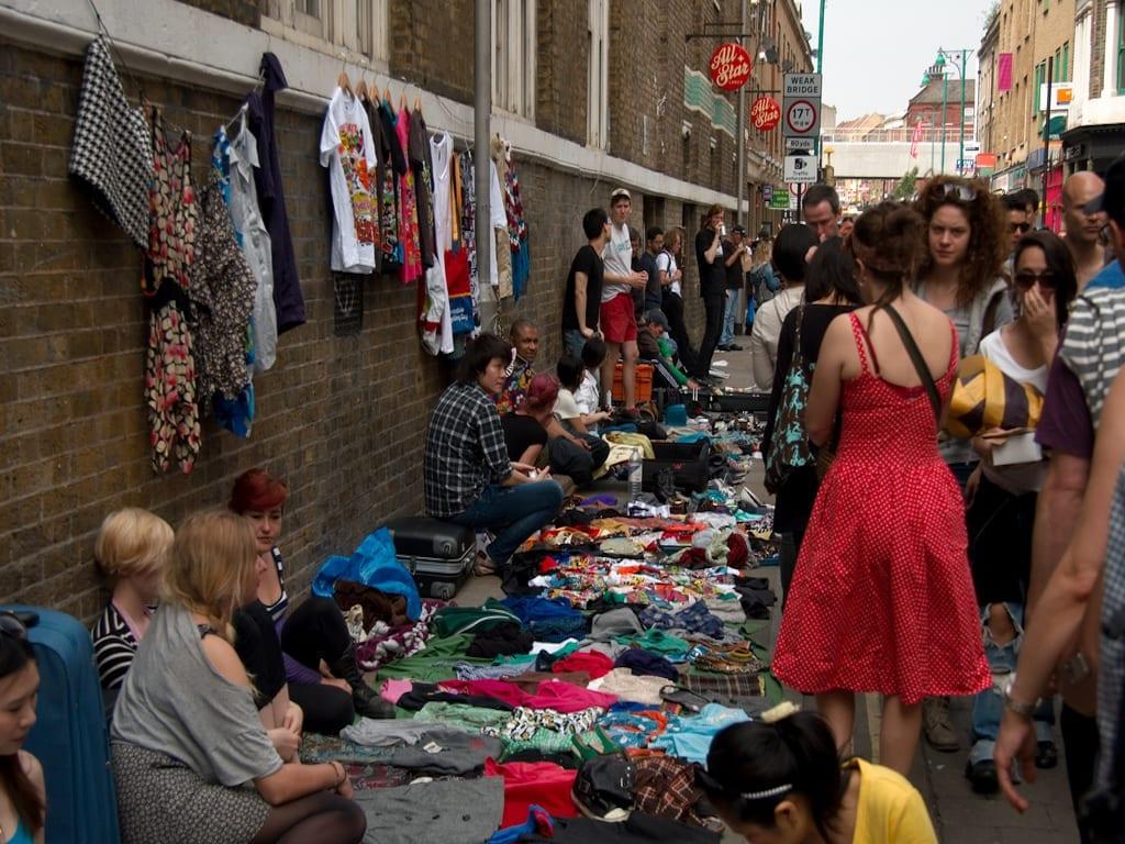 Brick Lane, uno de los mercadillos para el domingo