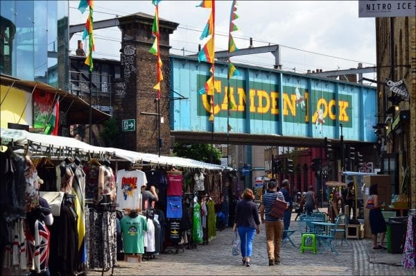 Mercadillos de Londres en sábado: Camden Town