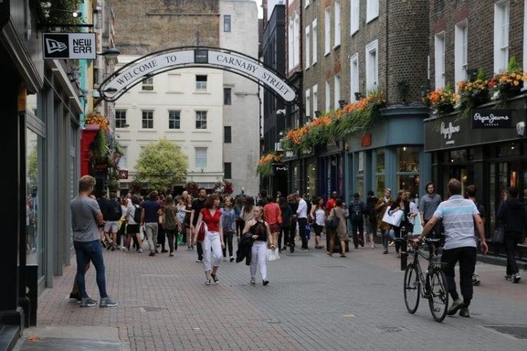 compras en Carnaby Street
