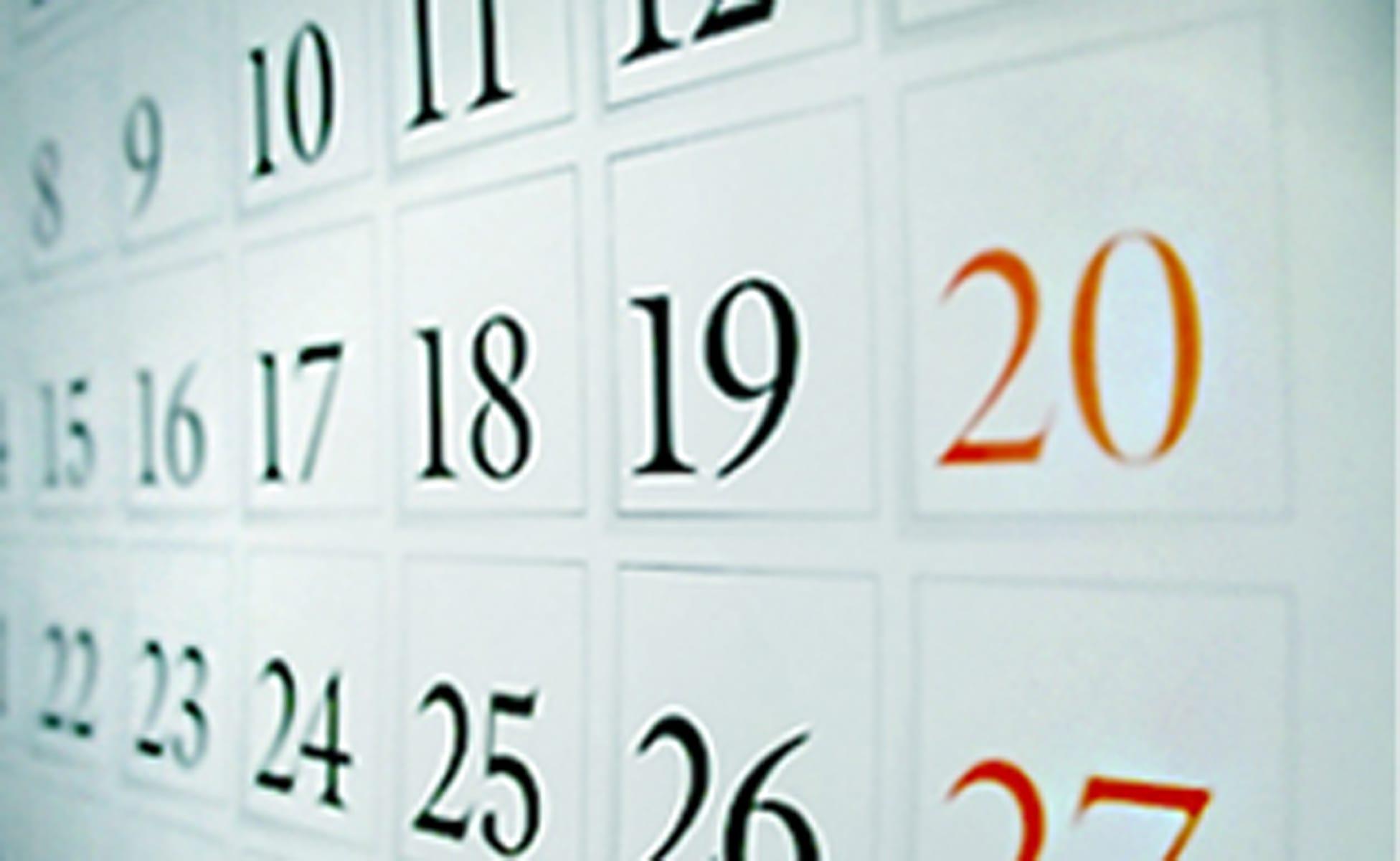 vocabulario sobre la fecha en inglés