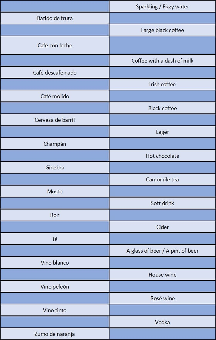 Las Bebidas En Ingl S Vocabulario Gu A De Estudio 2018  -> Como Se Dice Investigar En Ingles