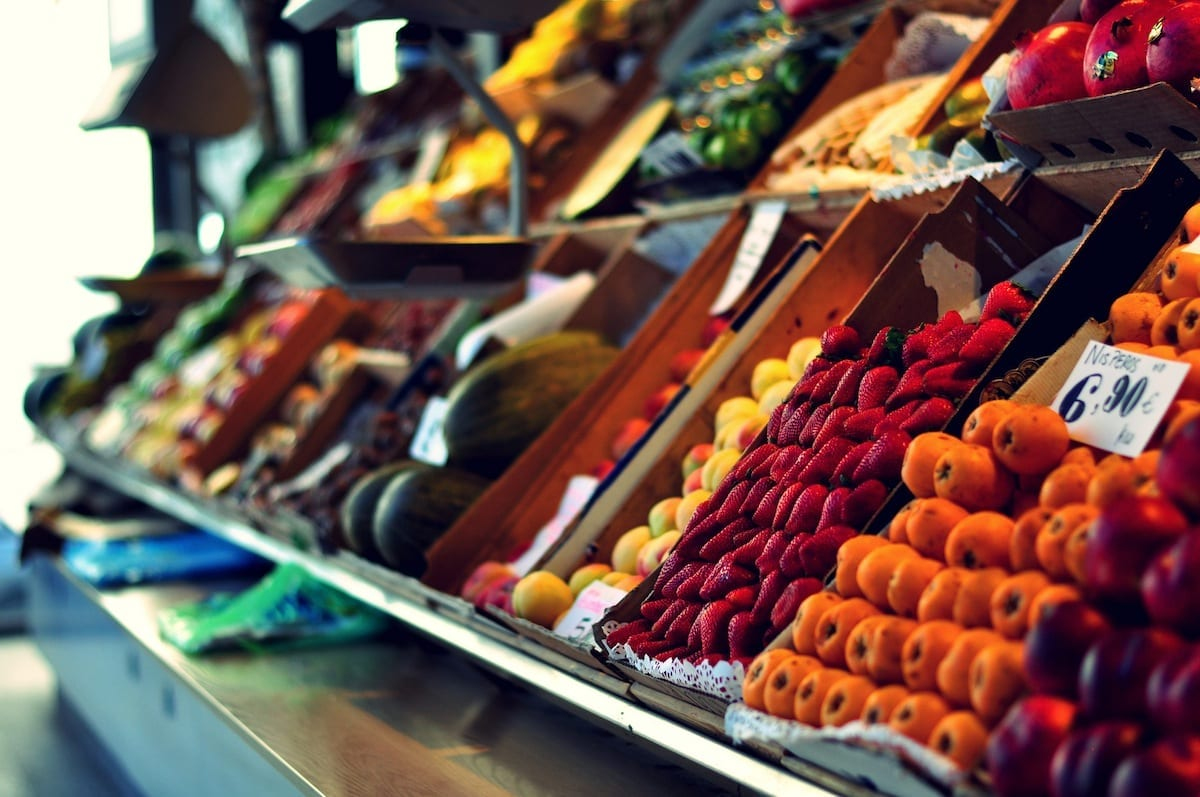 tiendas y comercios de frutas en ingles