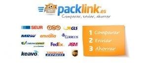 comparador packlink para buenos precios en el envio de paquetes o pack a UK