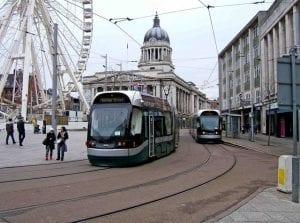 Tranvía turismo por Nottingham con buen tiempo