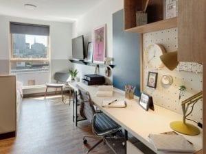 Habitación en residencias universitaria para estudiantes en Londres