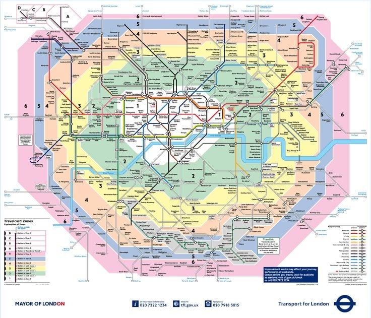 Rutas, Mapa y Horario del metro de Londres
