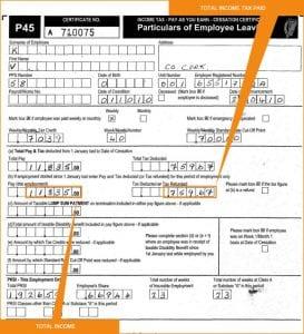 Documentos laborales P45 salario