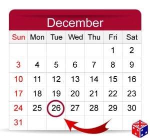 Tradición en Navidad Boxing Day