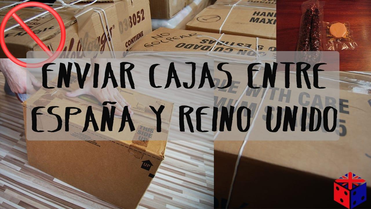 enviar cajas entre España y Reino Unido