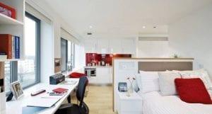 Estudio alojamiento universitario para estudiantes de universidad o residencias en Londres