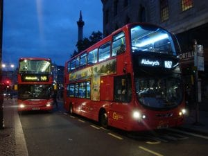 Ruta del autobús de Londres turístico