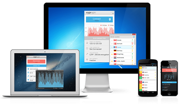 Server e connessione a VyprVPN
