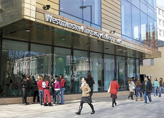 Academias de Inglés en Londres: Westminster Kingsway College