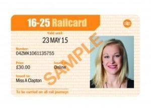 Tarjeta de tren para estudiantes 16-25 Railcard