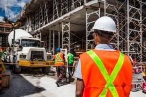 Personal con la CSCS para la construcción en Reino Unido