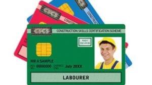Trabajo en construcción: Tarjeta para trabajar en construcción como albañil en Reino Unido