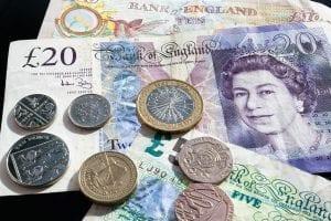 Libra esterlina es la moneda de Inglaterra, Reino Unido billete inglés