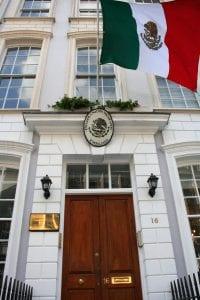Horario de la representación del gobierno en Consulado o Embajada de México en Londres