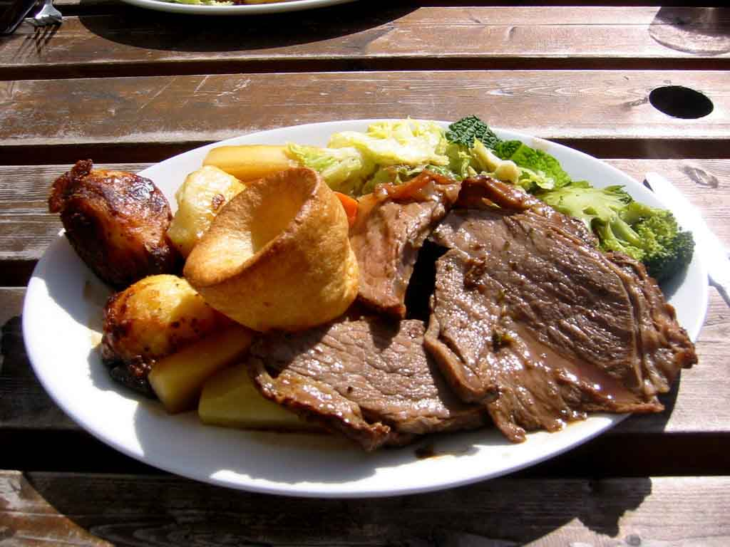 Comida típica de Inglaterra en domingo