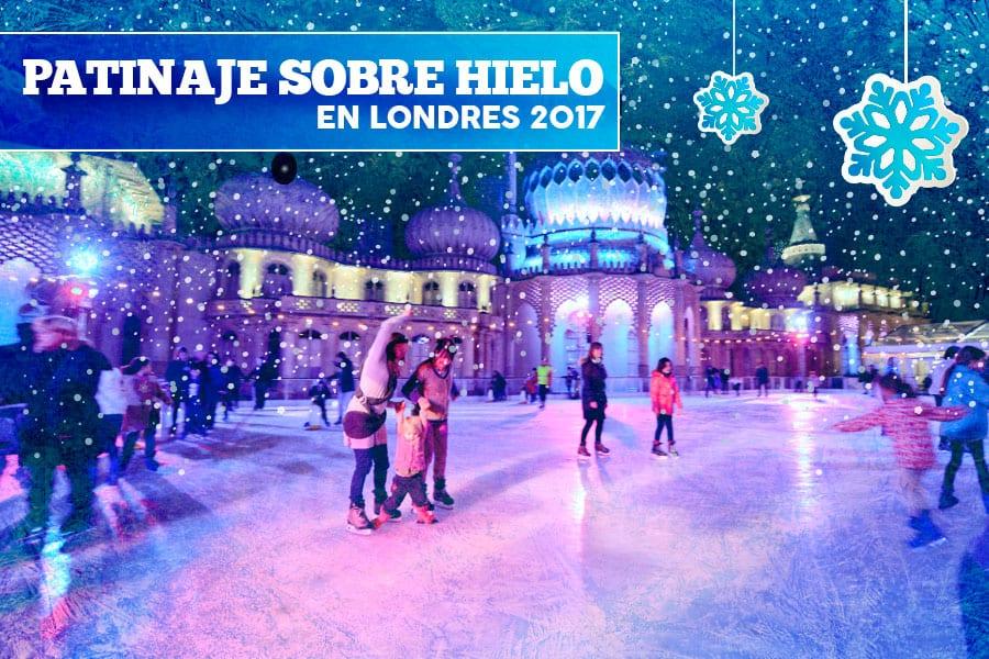 Patinaje sobre hielo en Londres por Navidad