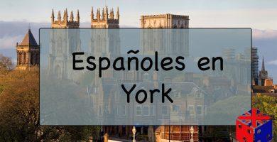 Españoles en York, Reino Unido